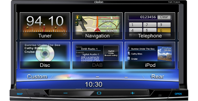 head unit clarion nx702 clarion nx502 technology masa. Black Bedroom Furniture Sets. Home Design Ideas